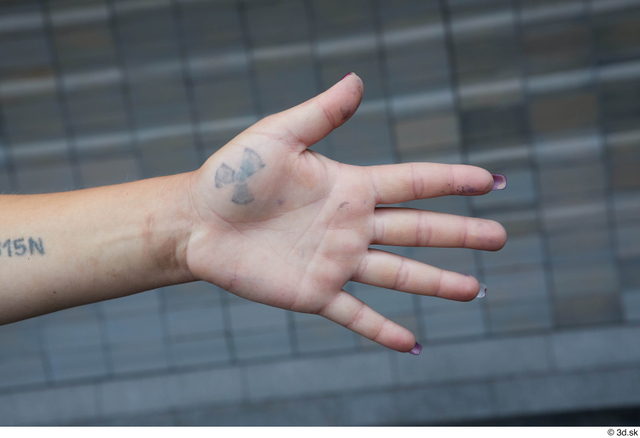 Hand Woman White Tattoo Casual Slim Street photo references