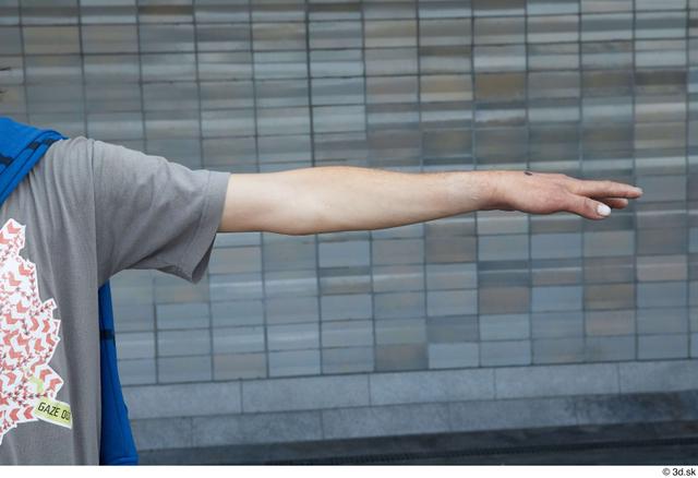 Arm Man White Casual Slim Street photo references