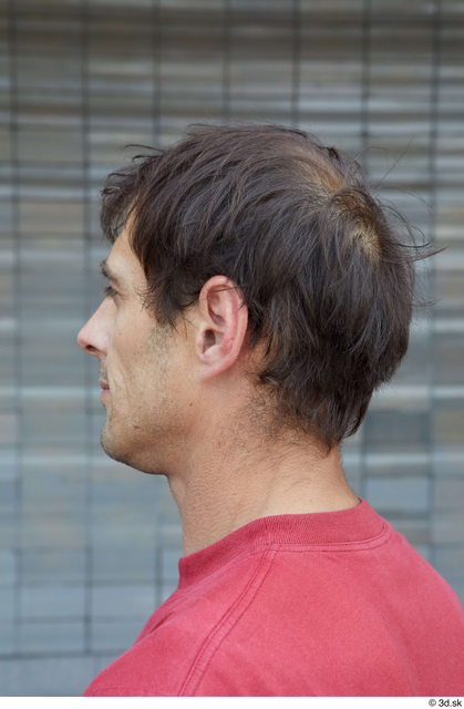 Head Hair Man White Casual Slim Street photo references