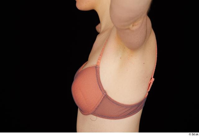 Chest Upper Body Breast Woman White Underwear Bra Slim Studio photo references