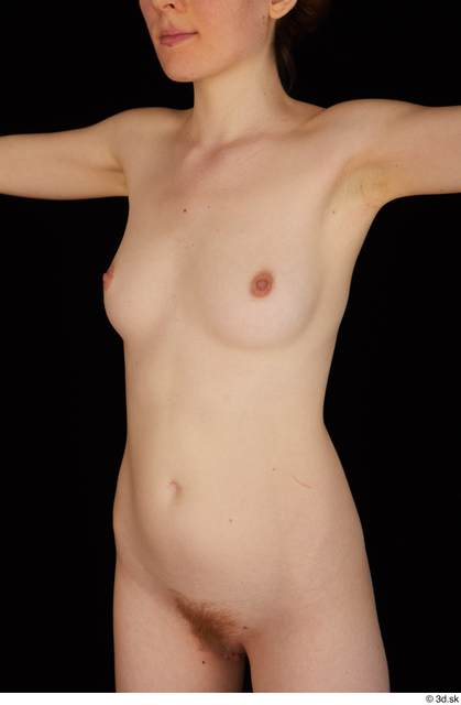 Chest Belly Upper Body Breast Woman White Nude Slim Studio photo references