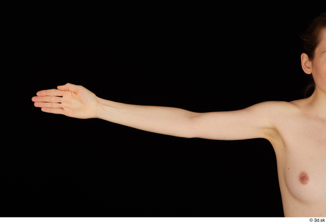 Arm Woman White Nude Slim Studio photo references