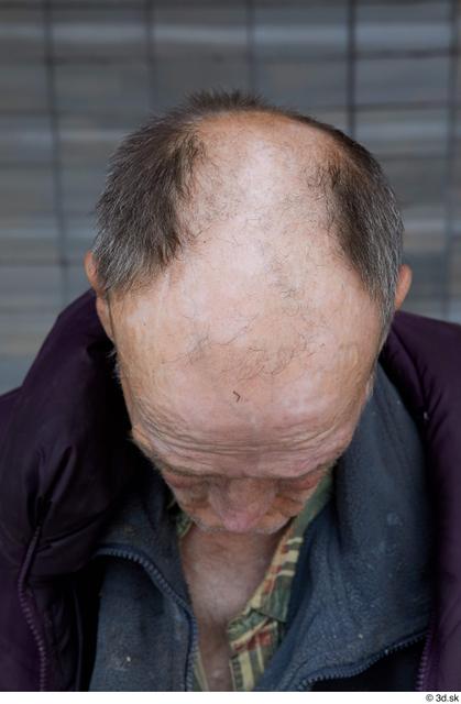 Head Hair Man White Casual Slim Bald Street photo references