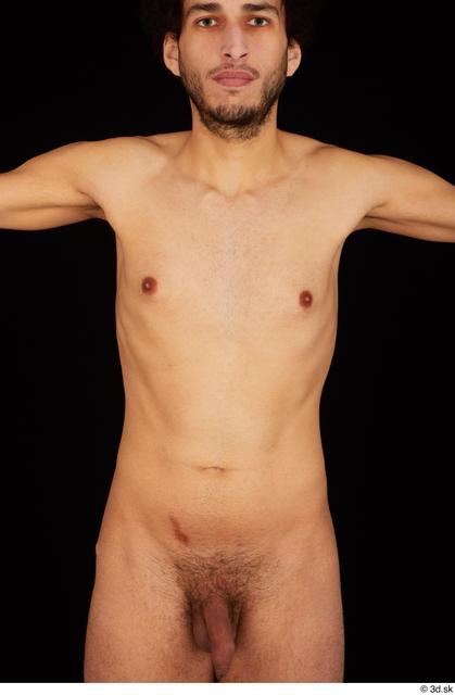 Chest Upper Body Man Nude Slim Studio photo references