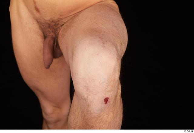 Knee Man Nude Slim Studio photo references