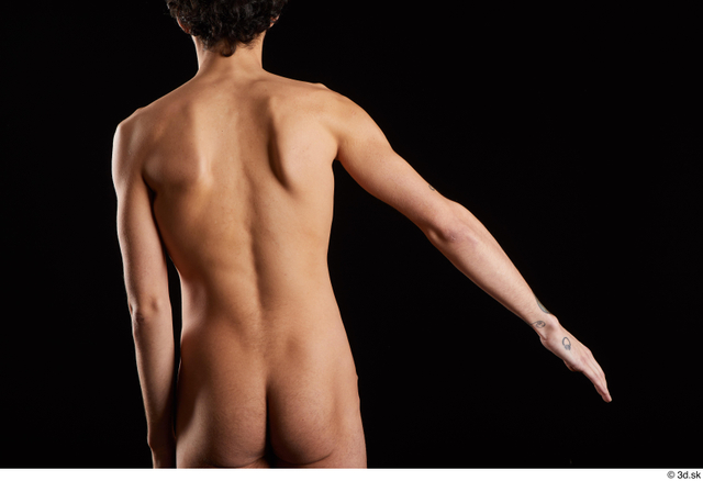 Arm Back Man White Nude Slim Studio photo references