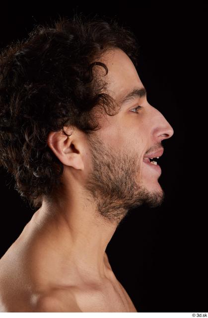 Head Man Slim Bearded Studio photo references