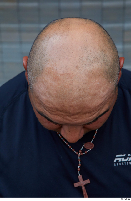 Head Man White Casual Overweight Bald Street photo references