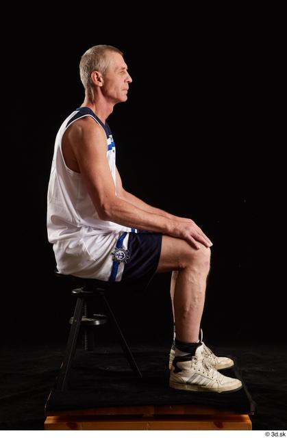 Whole Body Man White Average Sitting Studio photo references