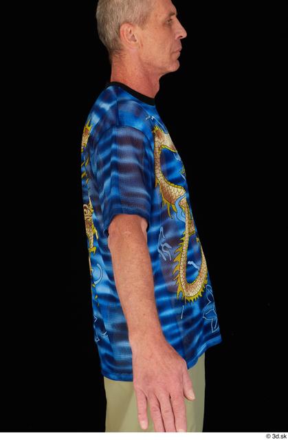 Upper Body Man White Casual Shirt Average Studio photo references