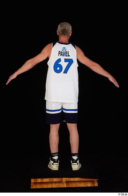 Whole Body Man White Sports Shorts Average Standing Top Studio photo references