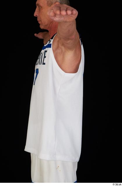 Upper Body Man White Sports Average Top Studio photo references