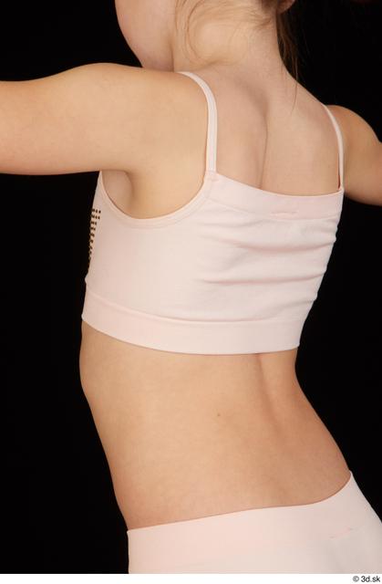 Upper Body Woman White Underwear Slim Studio photo references