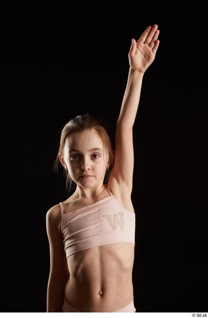 Arm Woman White Underwear Slim Studio photo references