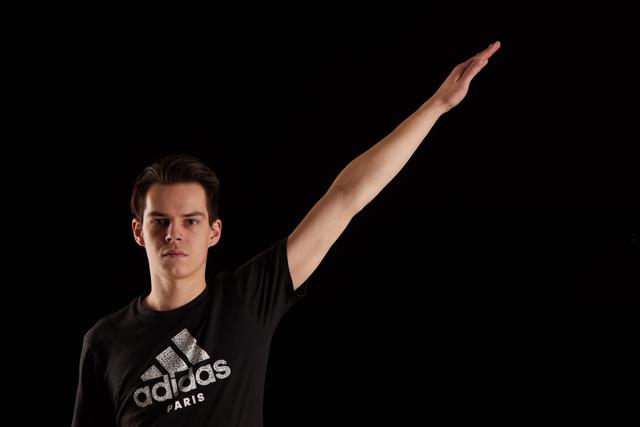 Arm Man White Slim Studio photo references