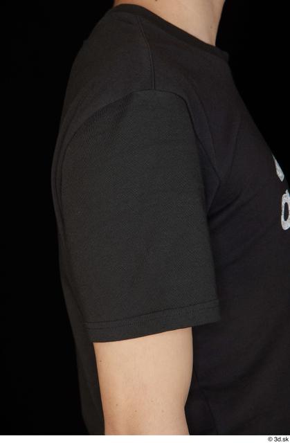 Arm Upper Body Man White Shirt T shirt Slim Studio photo references