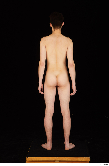 Whole Body Man White Nude Slim Standing Studio photo references