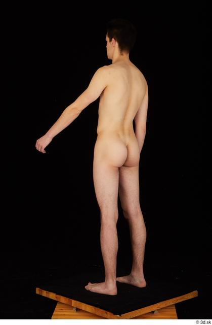 Whole Body Man White Nude Slim Standing Studio photo references