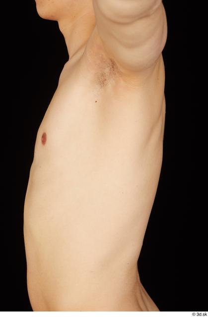 Chest Upper Body Man White Nude Slim Studio photo references