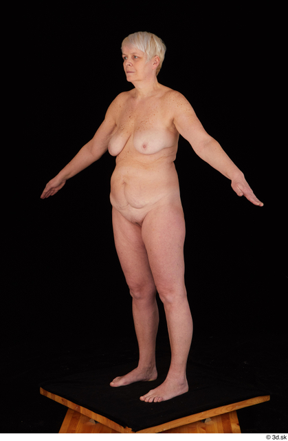 Whole Body Woman White Nude Chubby Standing Studio photo references