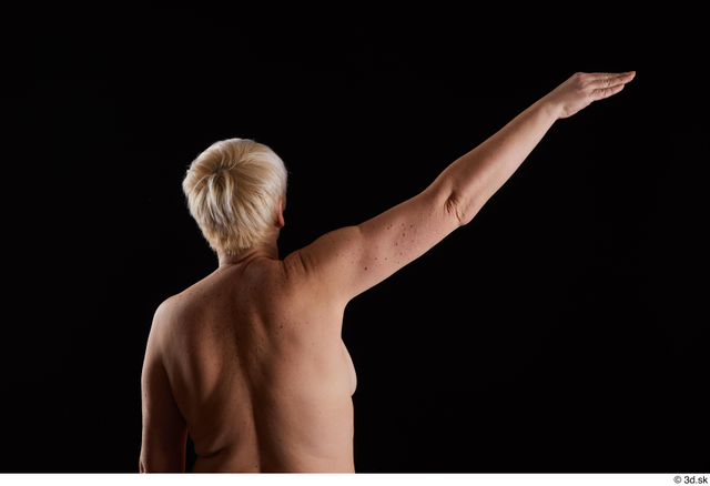 Arm Back Woman White Nude Chubby Studio photo references