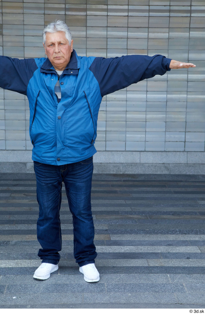 Whole Body Man T poses White Casual Chubby Standing Street photo references