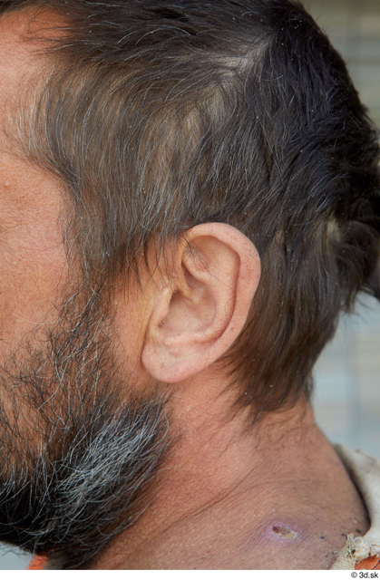 Ear Man White Casual Average Street photo references