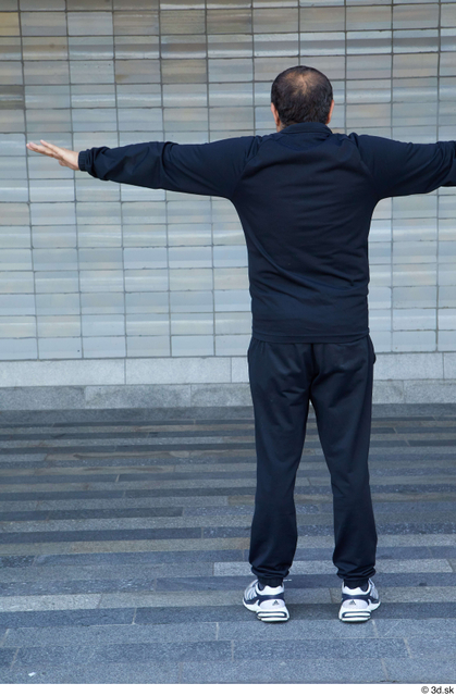 Whole Body Man T poses White Sports Chubby Standing Street photo references