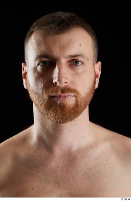 Head Man White Average Bearded Studio photo references
