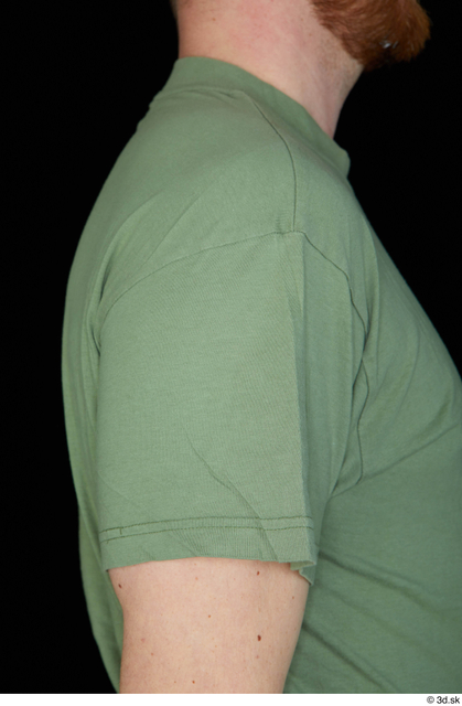 Arm Upper Body Man White Army Shirt Average Studio photo references