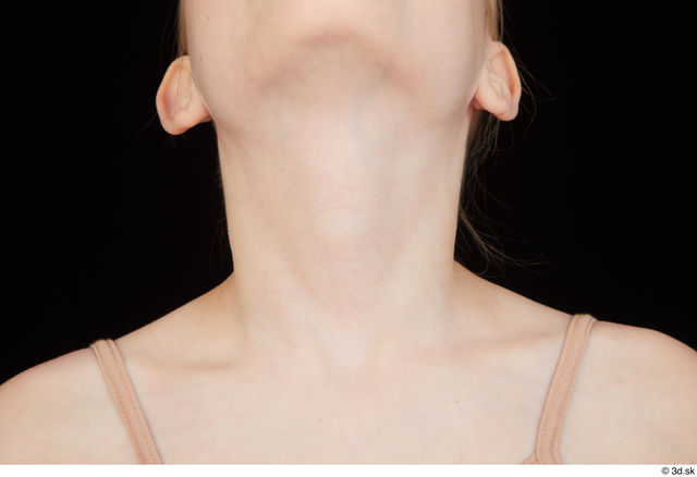Neck Woman White Nude Slim Studio photo references