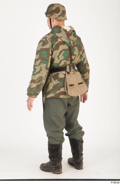 Whole Body Man White Army Uniform Jacket Average Standing Clothes photo references
