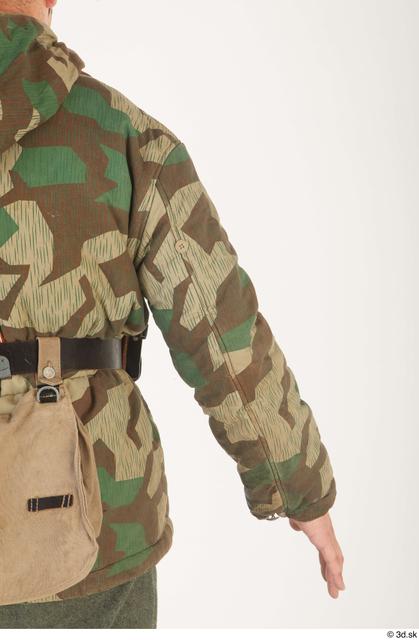 Arm Upper Body Man White Army Uniform Jacket Average Clothes photo references