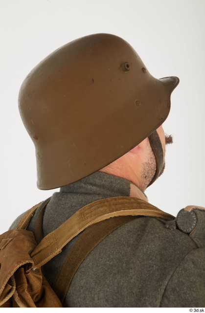 and more Head Man White Army Helmet Average Costume photo references
