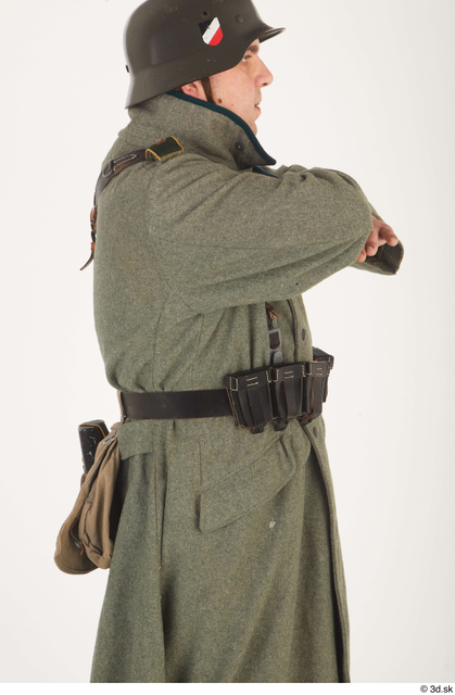 and more Upper Body Man White Army Uniform Coat Average Costume photo references