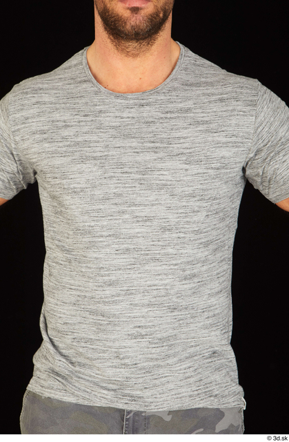 Upper Body Man White Casual Shirt Muscular Studio photo references