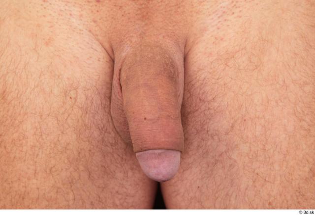 Penis Man White Nude Muscular Studio photo references