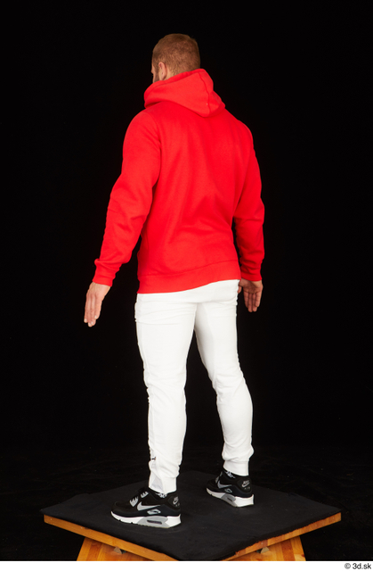 Whole Body Man White Pants Muscular Standing Studio photo references