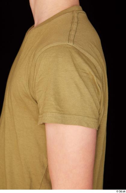 Upper Body Man White Casual Shirt Slim Standing Studio photo references