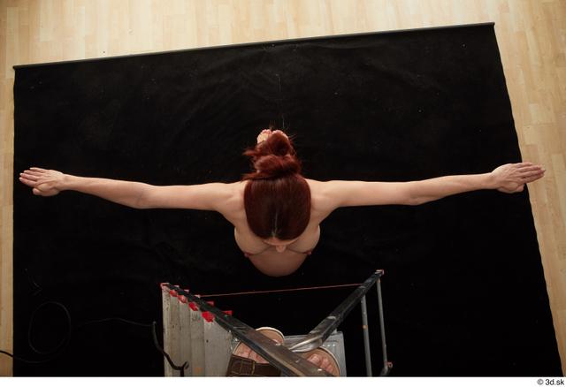 Whole Body Woman T poses White Nude Pregnant Kneeling Top Studio photo references