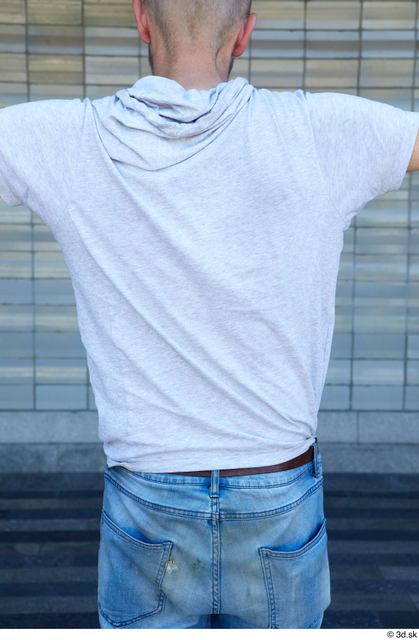 Upper Body Man White Casual Slim Street photo references