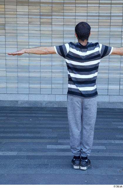 Whole Body Man T poses White Sports Average Standing Street photo references