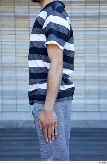 Arm Upper Body Man White Sports Average Street photo references