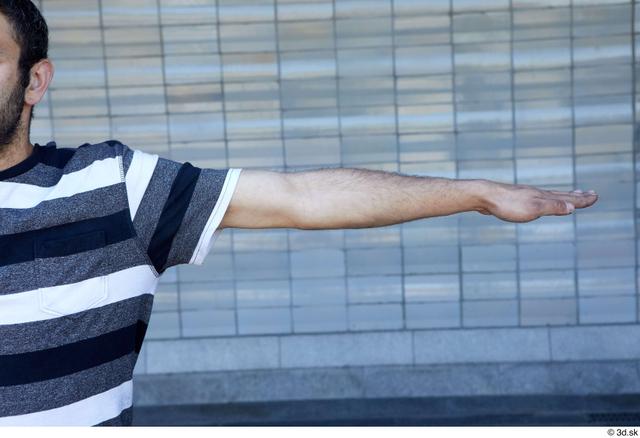 Arm Man White Sports Average Street photo references