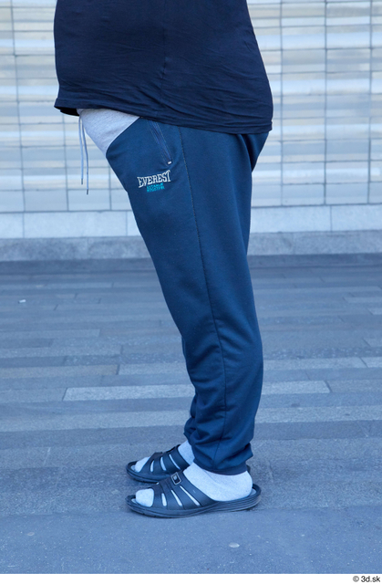 Leg Man White Sports Overweight Street photo references