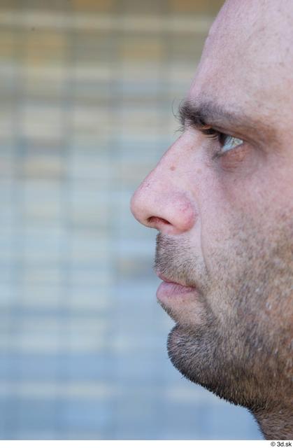 Nose Man White Casual Average Street photo references