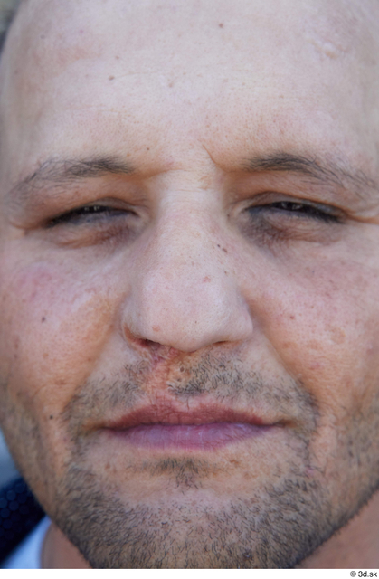 Face Nose Man White Casual Chubby Street photo references