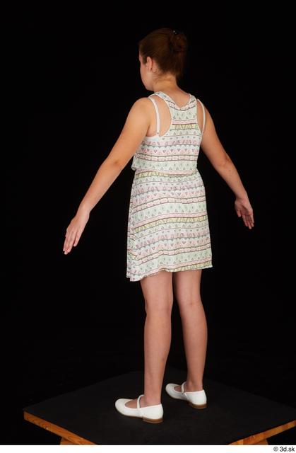 Whole Body Woman White Dress Average Standing Studio photo references