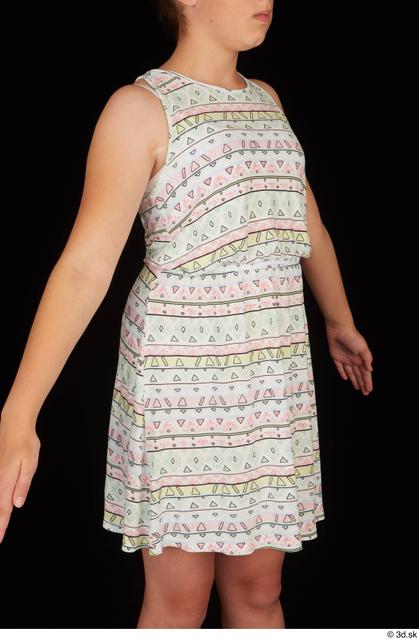 Upper Body Woman White Dress Average Studio photo references
