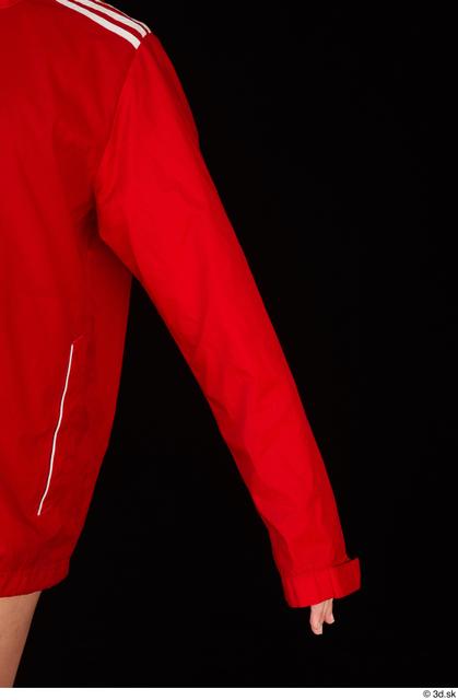 Arm Upper Body Woman White Sports Jacket Average Studio photo references